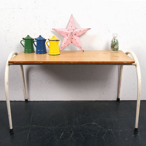 Children's small white metal legged table