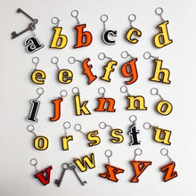 Load image into Gallery viewer, Reclaimed Letter Keyrings - Banded Perspex