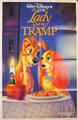 1988 The Lady and The Tramp Re-Release Film Poster