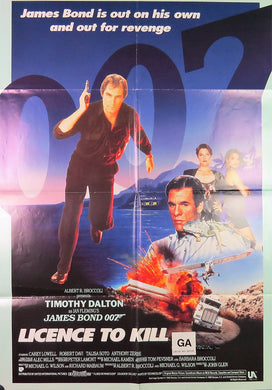 1989 License to Kill Film Poster