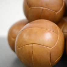 Load image into Gallery viewer, Czech Leather Medicine Balls Circa 1950s