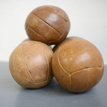 Load image into Gallery viewer, Small Leather Medicine Balls Circa 1950s