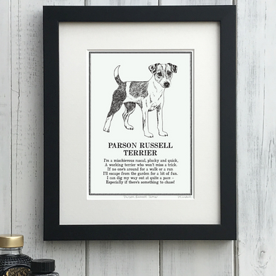 Parson Russell Terrier - Doggerel Print