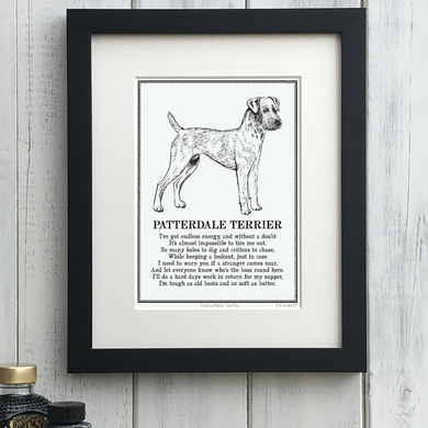 Patterdale Terrier - Doggerel Print