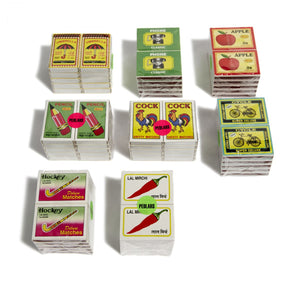 Set of 10 Pedlars Match Boxes - Hockey