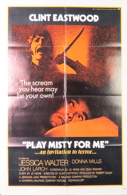 1971 Play Misty For Me Film Poster