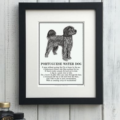Portuguese Water Dog - Doggerel Print