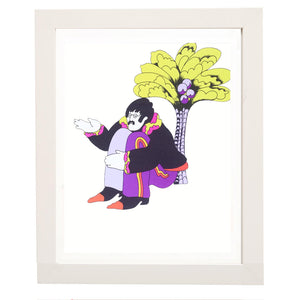 Vintage John Under The Tree - Beatles Print