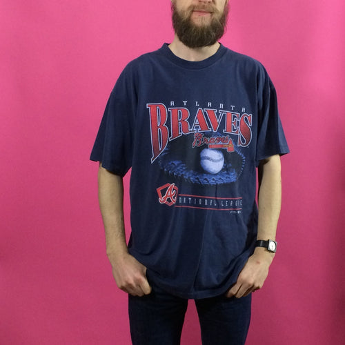 Vintage Print T-Shirt - Braves - X Large