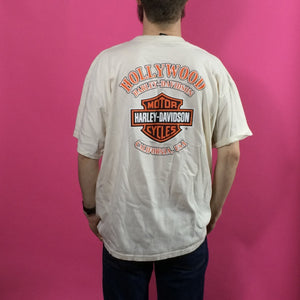 Harley Davidson Vintage T Shirt - XL - Hollywood