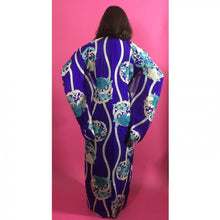 Load image into Gallery viewer, 1930s Sheer Silk Purple Nadeshiko Patterned Vintage Kimono