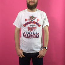 Load image into Gallery viewer, Vintage Print T-Shirt - Minnesota Twins - Large