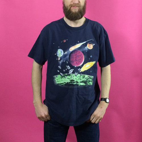 Vintage Print T-Shirt - Cosmos - X Large
