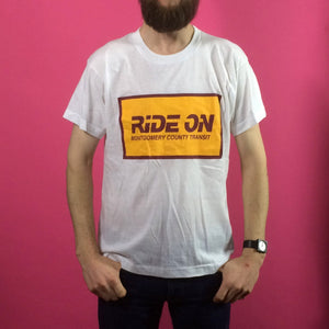 Vintage Print T-Shirt - Ride On - Large
