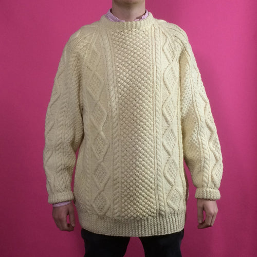 Arran Knit Vintage Jumper - Large