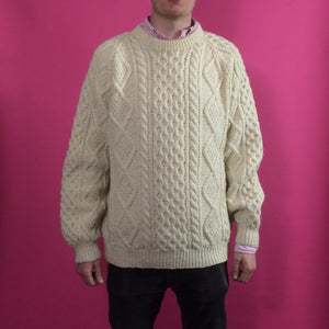 Arran Knit Vintage Jumper - Medium