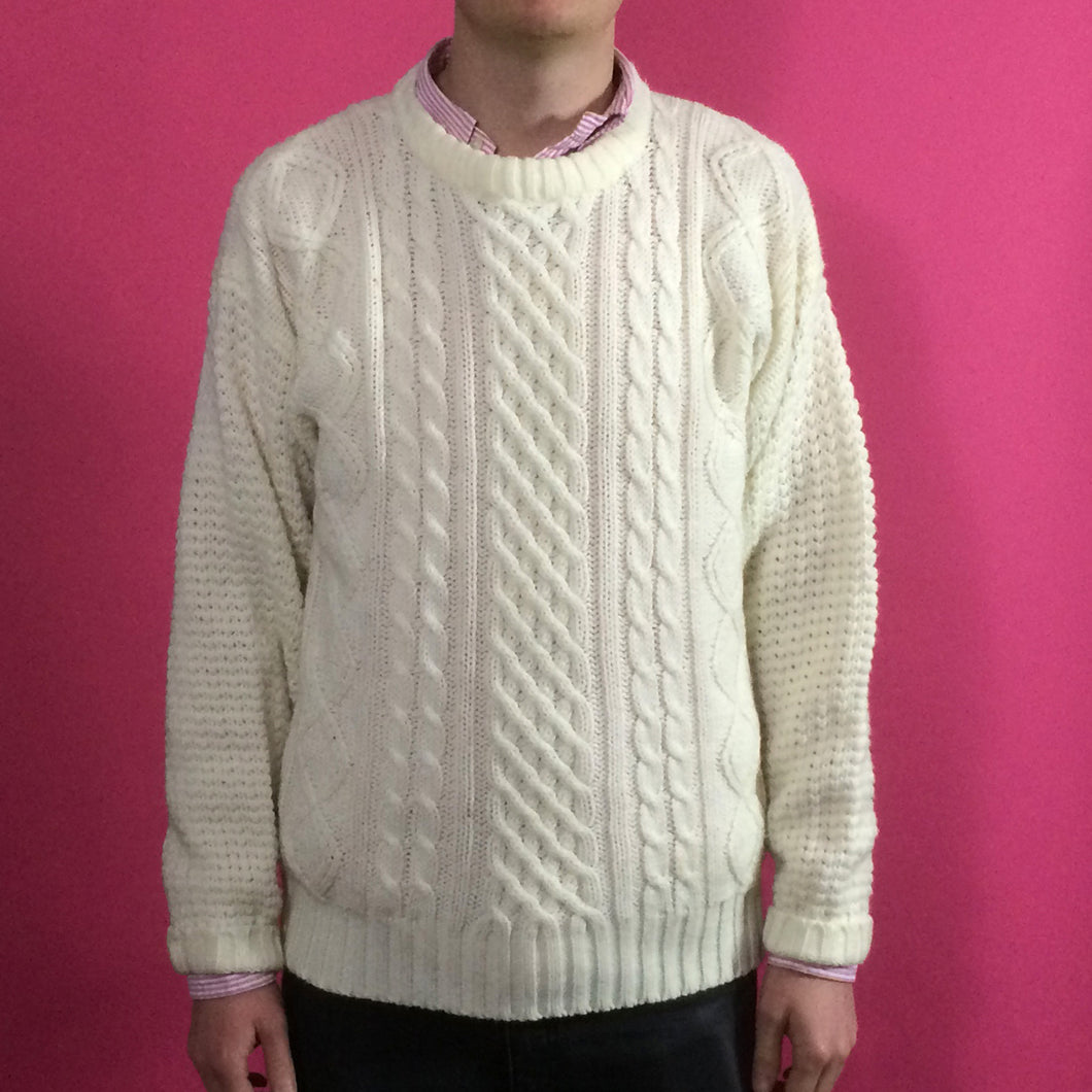 Arran Knit Vintage Jumper - Small