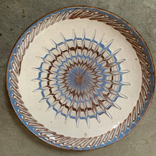 Load image into Gallery viewer, Decorative Patterned Plate in Blues and Earthy Colours