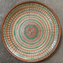 Load image into Gallery viewer, Decorative Patterned Plate in Blues, Terracotta and Greens