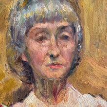 Load image into Gallery viewer, Portrait of Lady in Yellow Tones - Oil Painting on Board