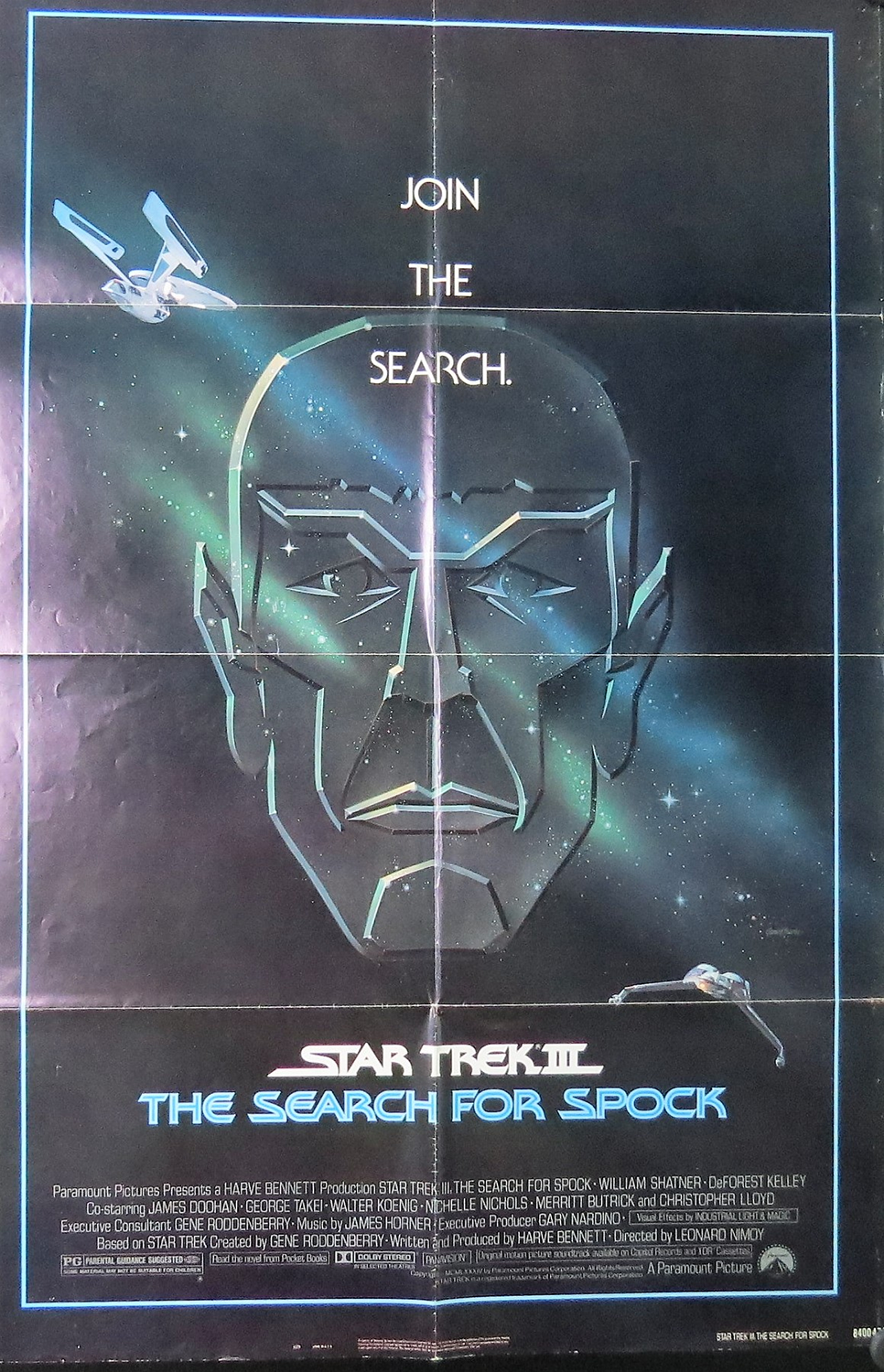 1984 Star Trek: The Search For Spock Film Poster