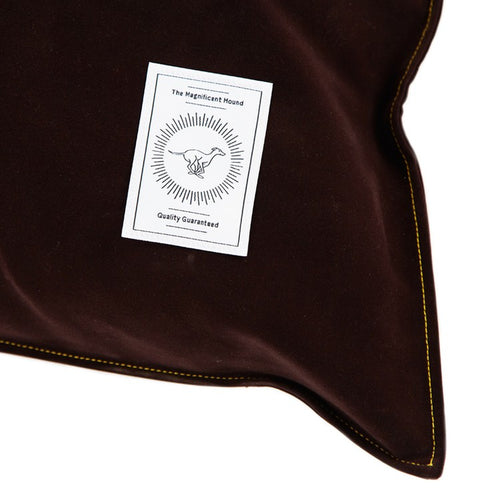Chocolate Brushed Cotton Dog Bed - Large