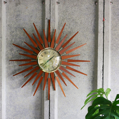 Anstey and Wilson Sunburst Clock