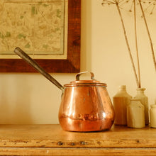 Load image into Gallery viewer, Vintage Wooden Handled Copper Pan