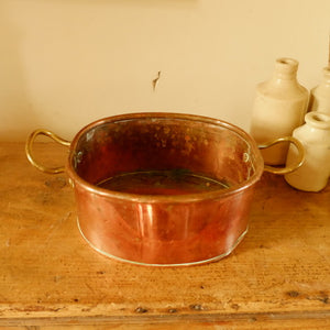Vintage Two-Handled Copper Pan