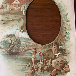 19th century frame Angling and Bowls