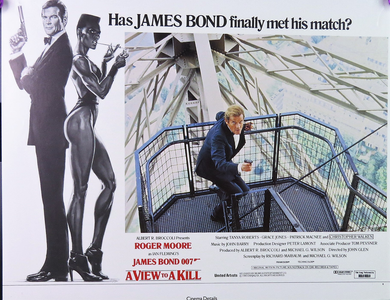 1985 A View To A Kill Film Card