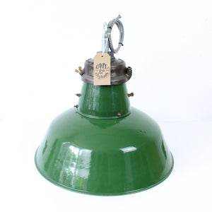 Large Vintage Industrial Factory Light by Wardle