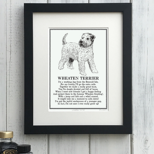 Wheaten Terrier - Doggerel Print