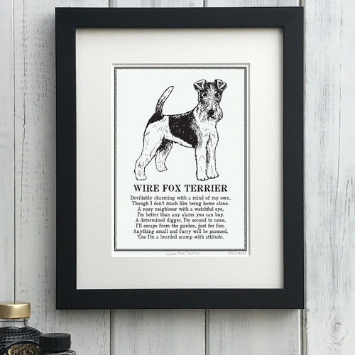 Wire Fox Terrier - Doggerel Print