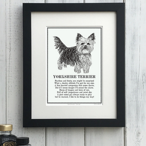 Yorkshire Terrier - Doggerel Print
