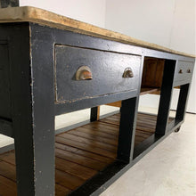 Load image into Gallery viewer, Vintage Painted Pine Baker's Table Kitchen Island