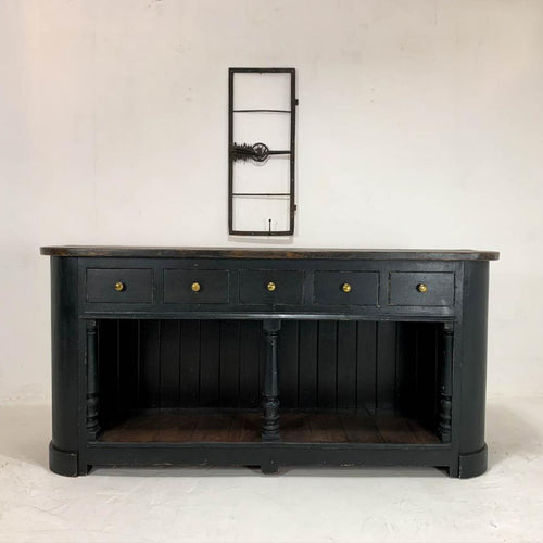English Painted Pine Bath Dresser Sideboard