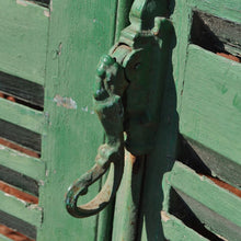 Load image into Gallery viewer, Pair Of Chalky Green Continental Antiques Shutters