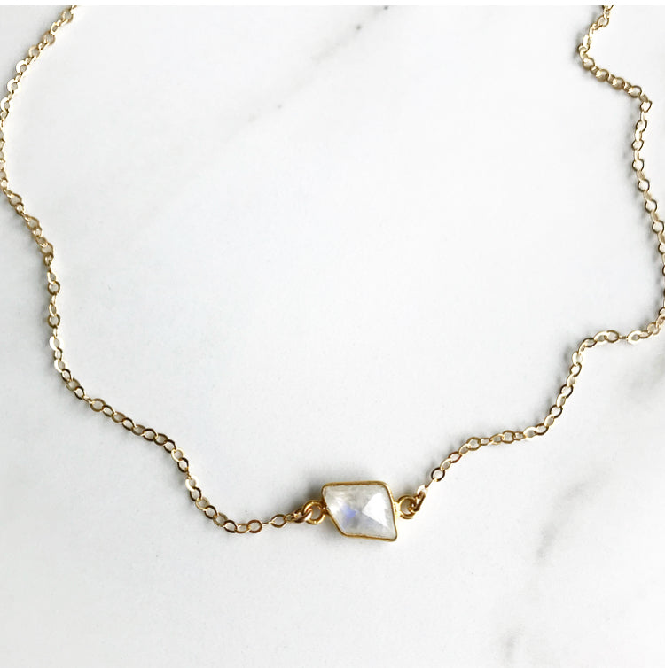 Mermaid Moonstone Choker