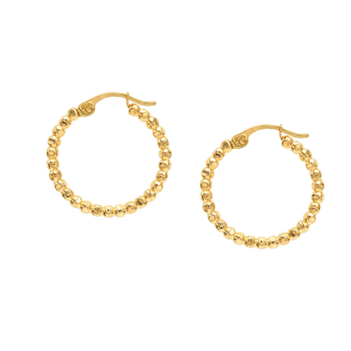 14k Gold Filled Beaded Hoops