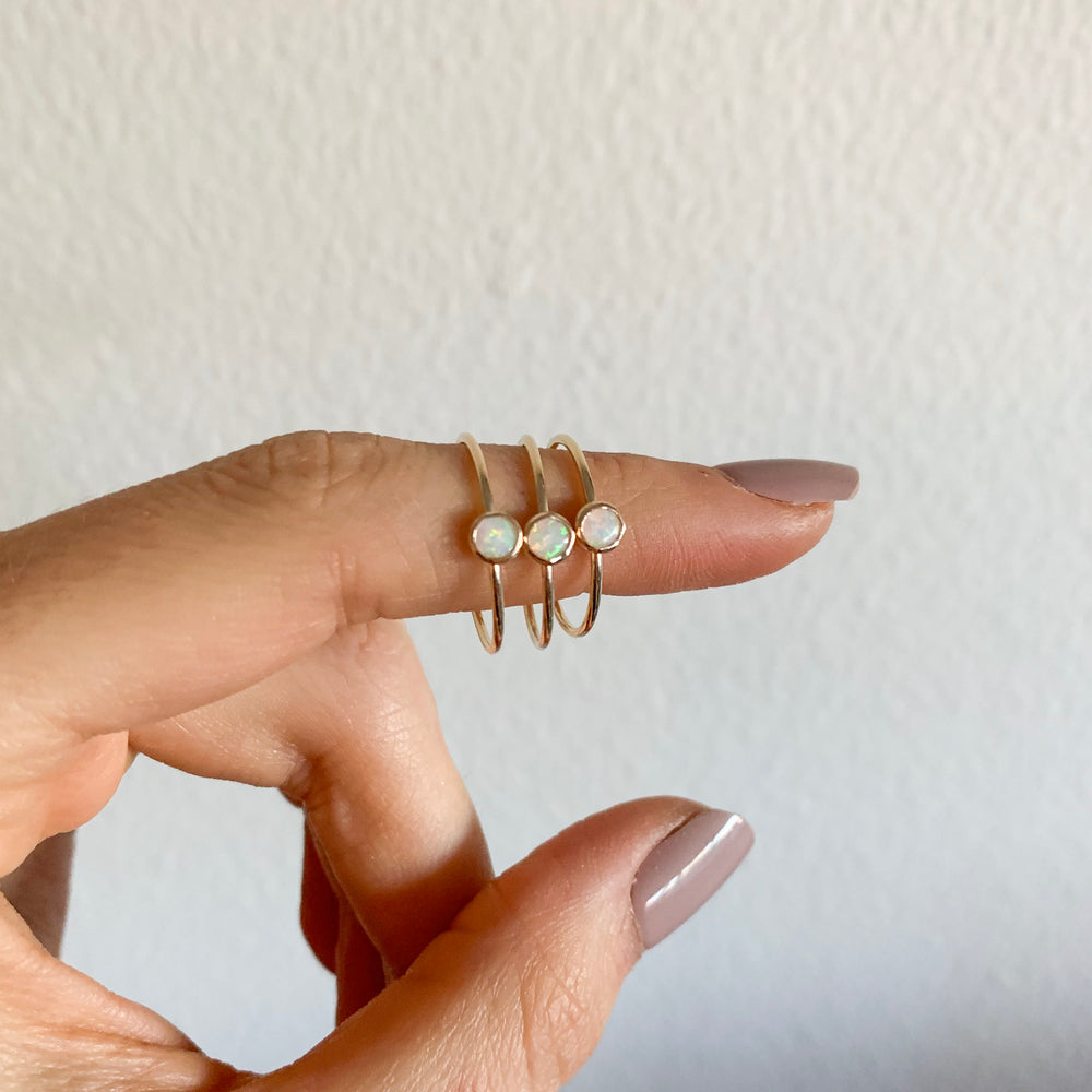 Gold Filled Opal Stacker Ring - xohanalei