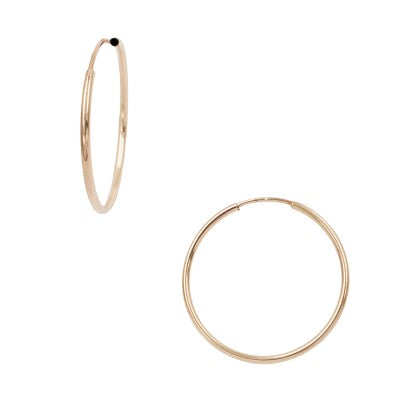 Midi Endless Hoops  (1 inch) - xohanalei