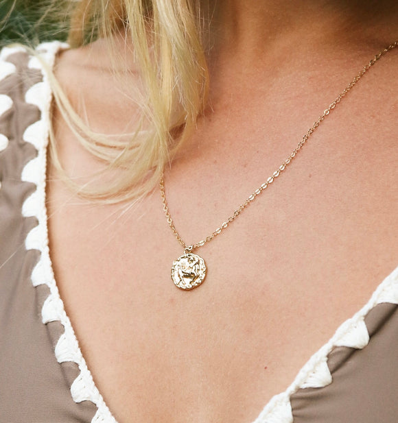 Zodiac Coin Necklace - xohanalei