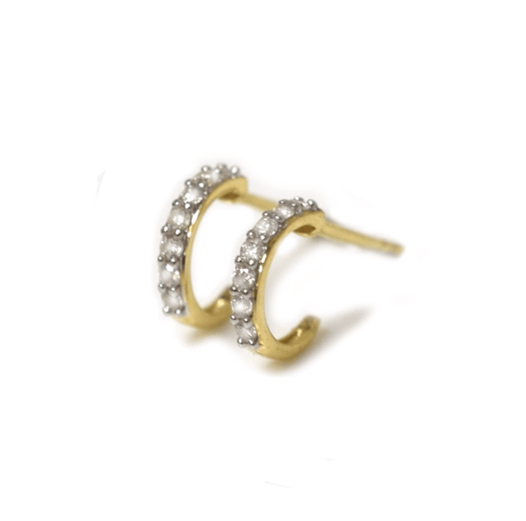 Diamond Mini Hoops 14kt
