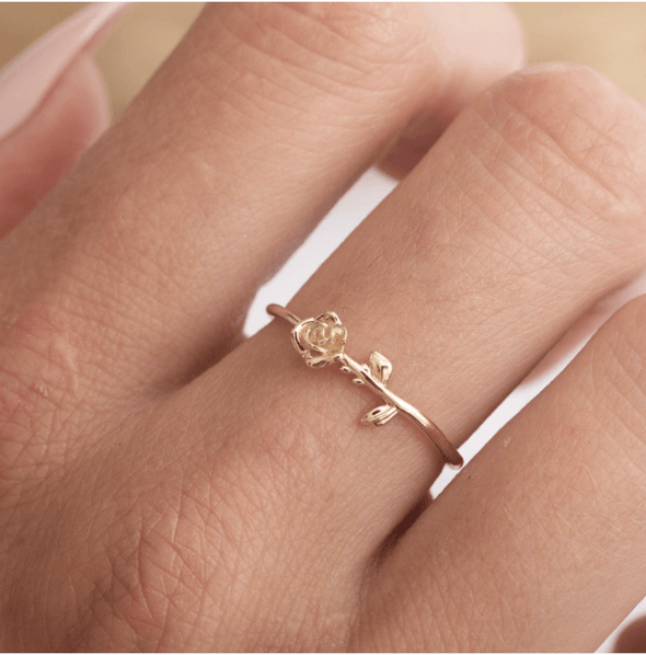 14kt Rose Stem Ring