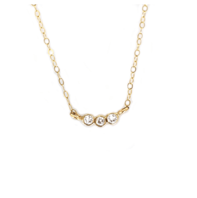 14k Diamond Trio Necklace
