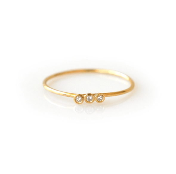 14k Dainty Diamond Stacking Ring