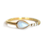 Moonstone and Topaz Siren Ring - xohanalei