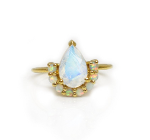 Opal and Moonstone Ring - xohanalei