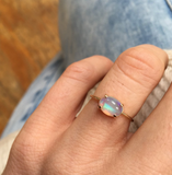 14k Gold Opal Solitaire Ring - xohanalei
